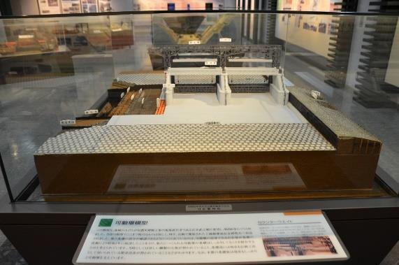 新可動堰の模型