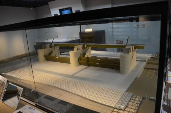宮本武之輔が作成した旧可動堰の模型