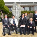 訪問日:平成27年2月17日 訪問者:一般社団法人 全日本建設技術協会  会 長 松田 芳夫 氏(左から 2 人目)  専務理事 中嶋 章雅 氏(左から 3 人目)